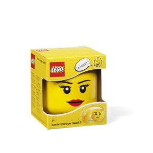 LEGO väike peakujuline hoiukarp tüdruk 1/2